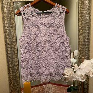 Purple lace blouse